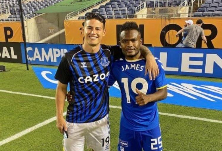 James Rodríguez y el intercambio de camiseta en el amistoso ante Millonarios