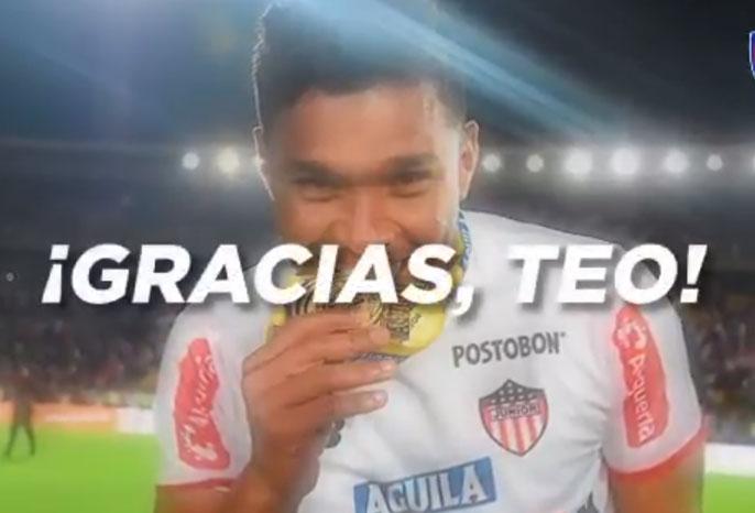 La despedida de Junior para Teo Gutiérrez