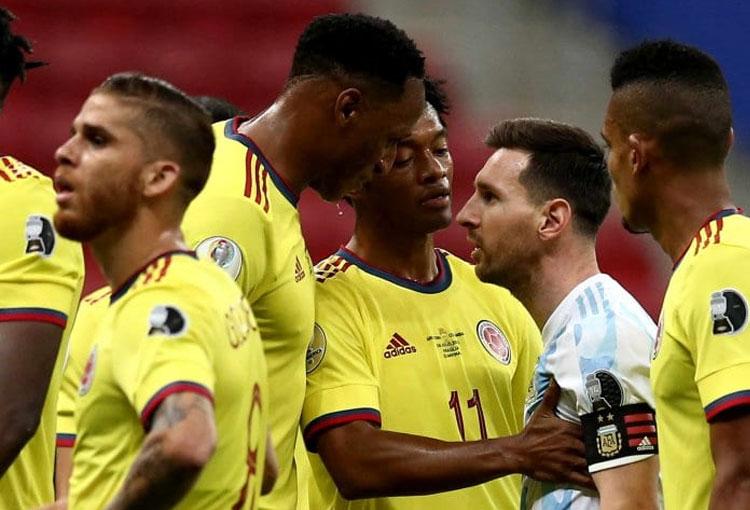 ¡Así respondió Yerry Mina a los desplantes de Leo Messi!