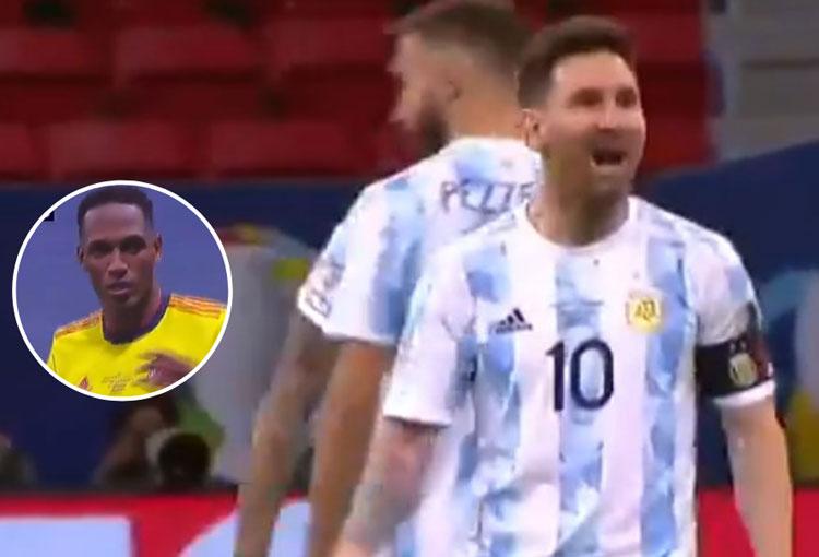 ¡Los gritos de Messi a Yerry Mina tras su penalti errado!