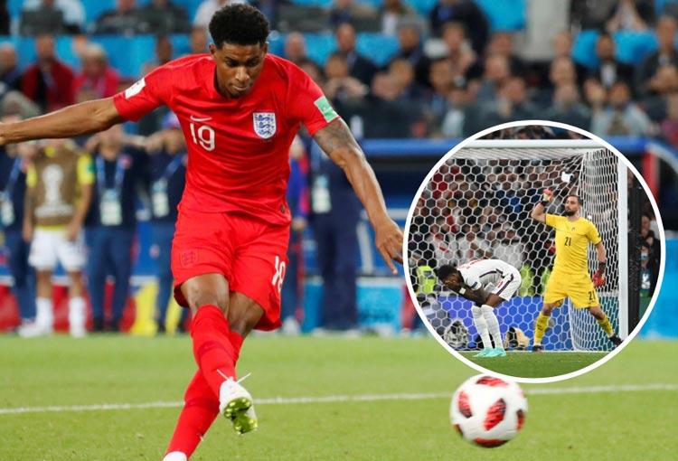 Marcus Rashford y sus penaltis: misma definición con gol a Colombia y fallo ante Italia