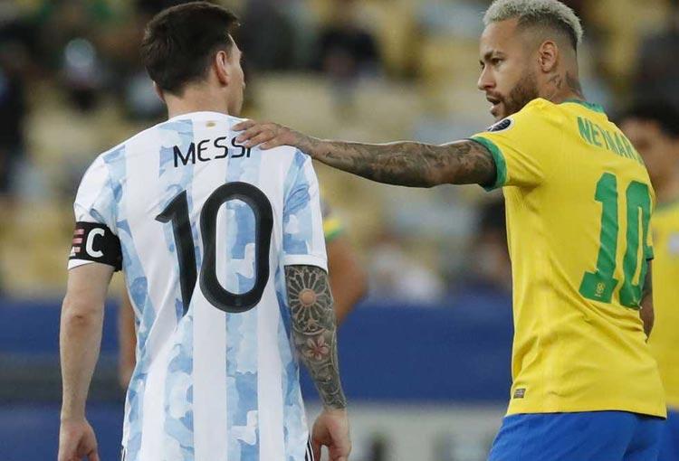 Carta de Neymar para Messi tras el título de Argentina en la Copa América