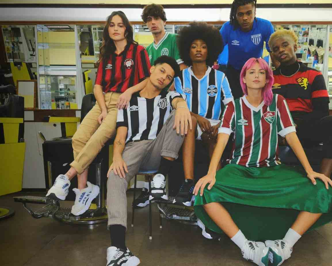 Umbro lanza colección vintage de clubes patrocinados en Brasil