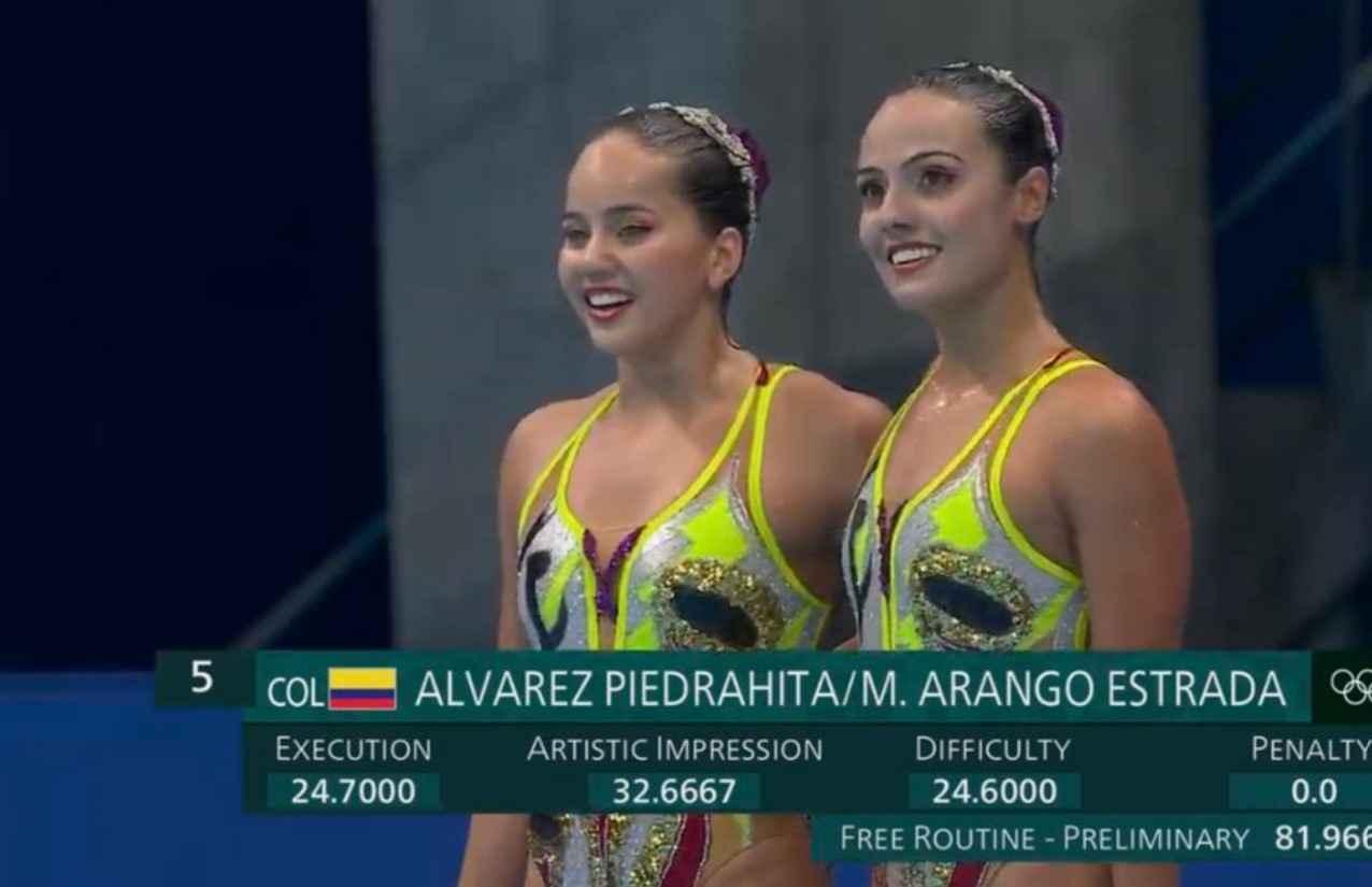 A ritmo de salsa con Estefanía Álvarez y Mónica Arango en la natación artística