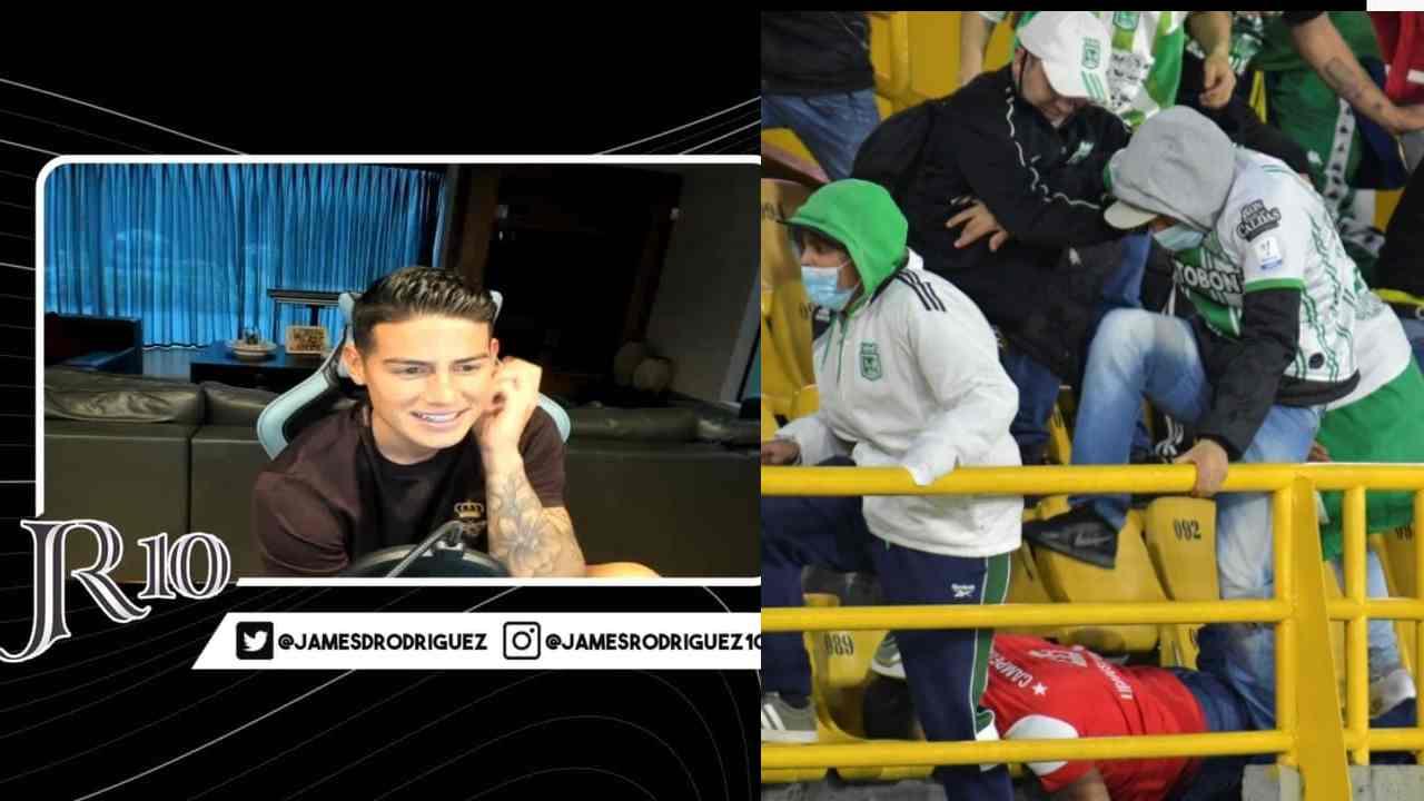 James Rodríguez habló sobre lo que pasó en 'El Campín' Hay que vivir el fútbol en paz