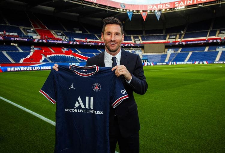 Lionel Messi, Ángel Di María, Paris Saint-Germain, bienvenida