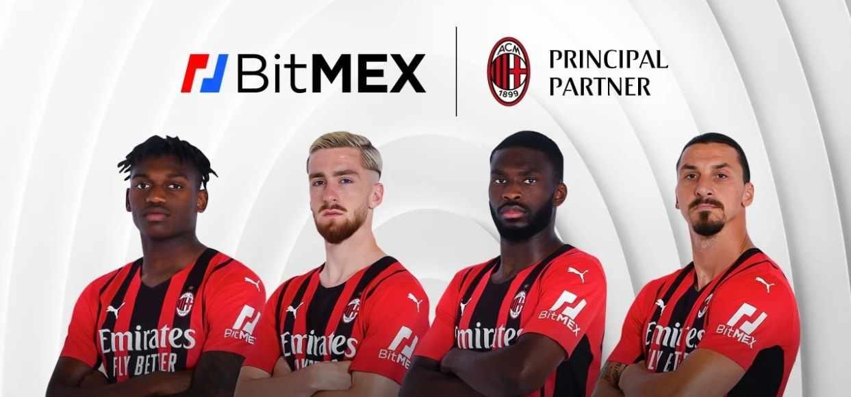 Plataforma de criptomonedas Bitmex se une al AC Milan