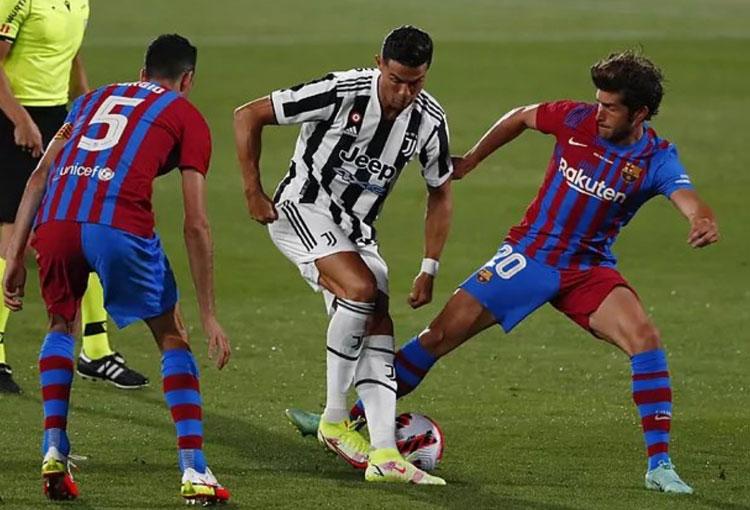Primer partido del Barcelona tras la salida de Messi: triunfo sobre la Juventus con Cristiano Ronaldo