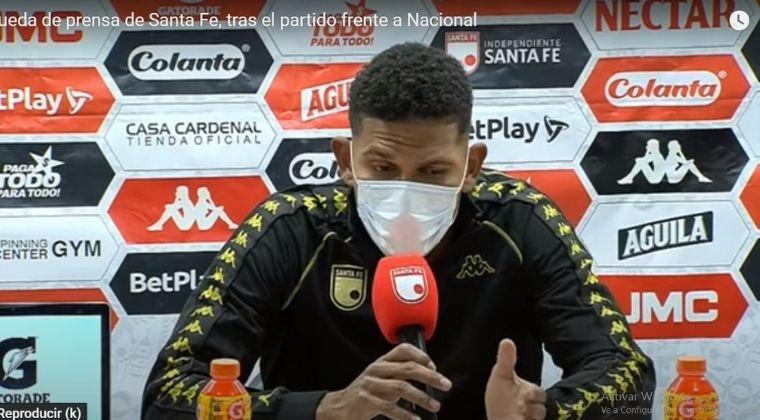 Lo que dijo Álex Mejía tras la derrota de Santa Fe ante Atlético Nacional