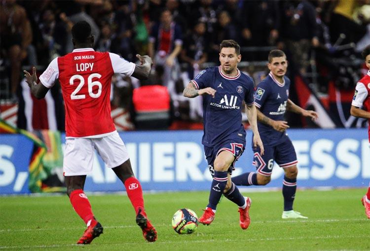 Lionel Messi debut PSG Ligue 1 Reims