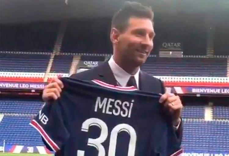 Las primeras imágenes de Messi en PSG y el porqué del número 30