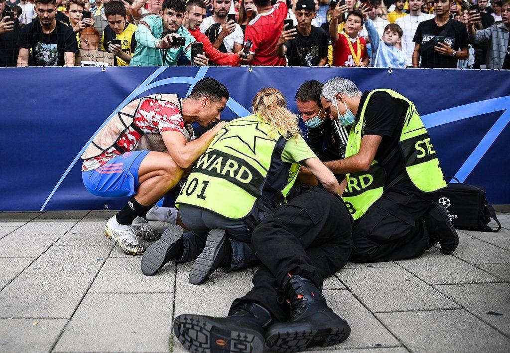 Comisaria de campo habló del golpe que le dio Cristiano Ronaldo
