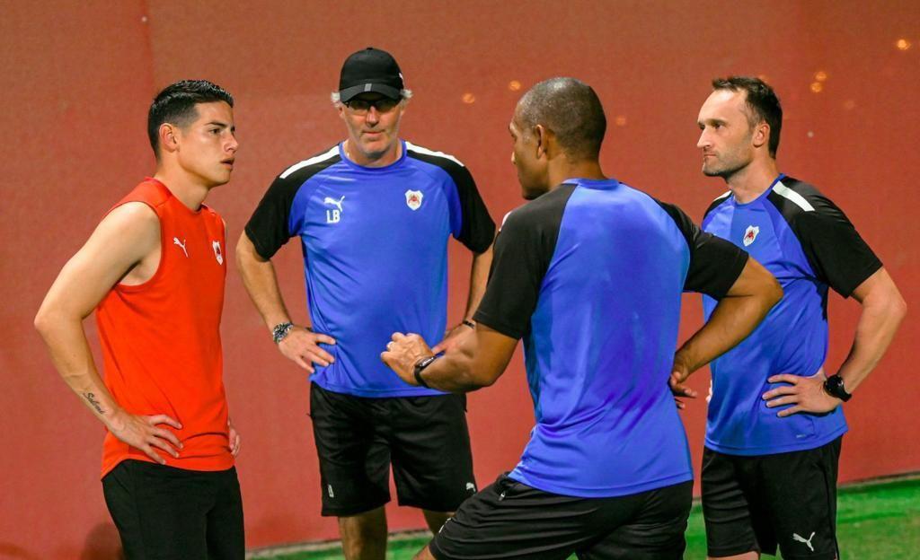Primer entrenamiento de James Rodríguez con el Al-Rayyan