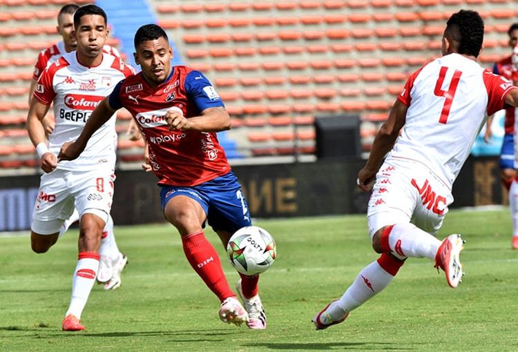 Independiente Santa Fe, Deportivo Independiente Medellín, DIM, DaleRojo, Liga BetPlay 2021-II, tabla de posiciones