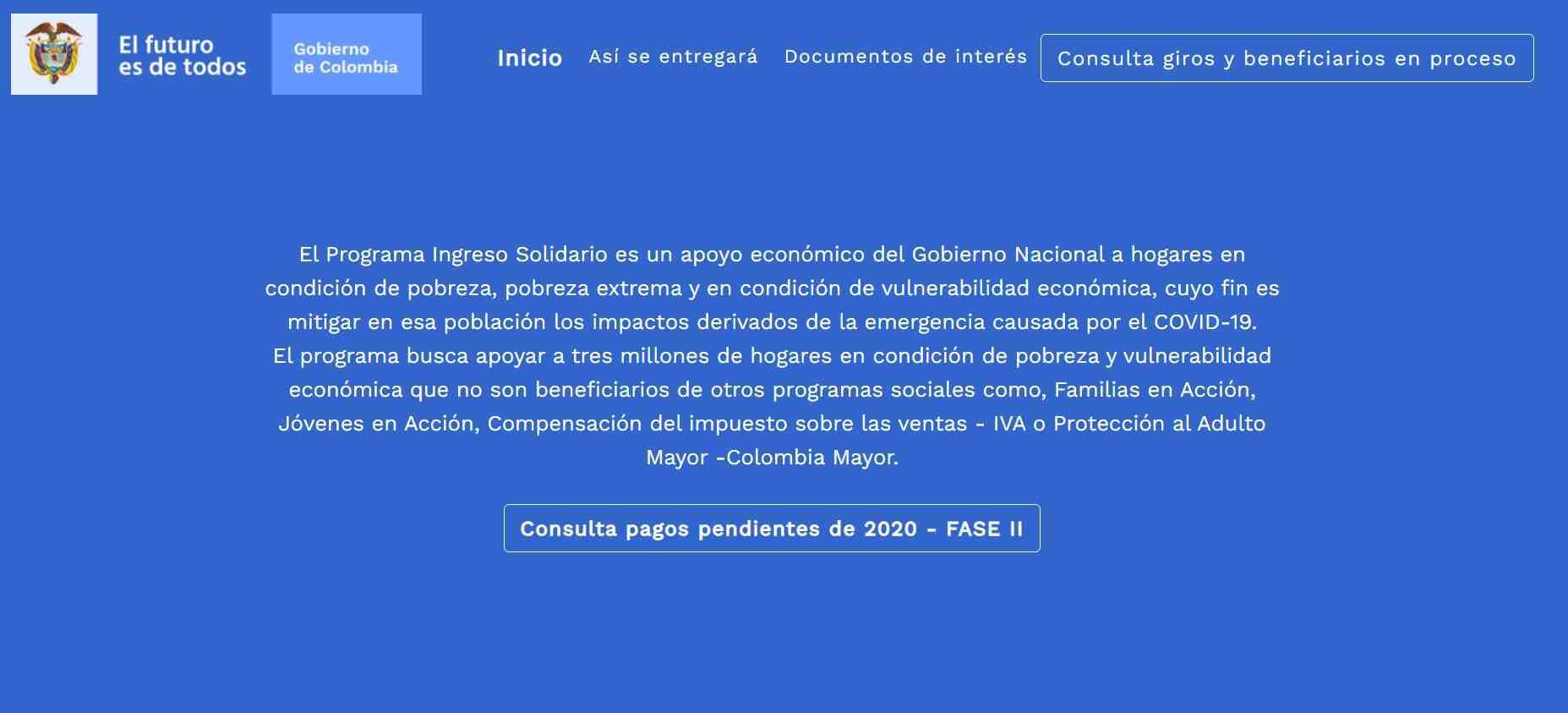 Ingreso Solidario: Link de consulta pagos pendientes Fase II