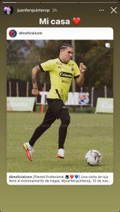 Juanfer Quintero y un único objetivo entrando con DIM: Selección Colombia