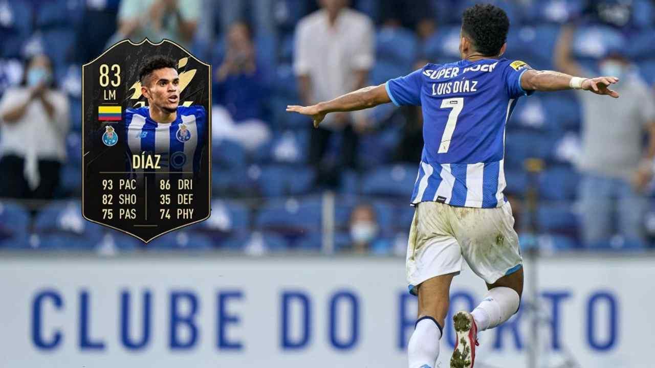 Luis Díaz aparece en el primer equipo de la semana en FIFA 22