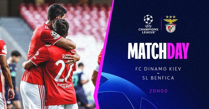 Ver en vivo Dinamo Kiev vs Benfica por la fecha 1 de la Champions League