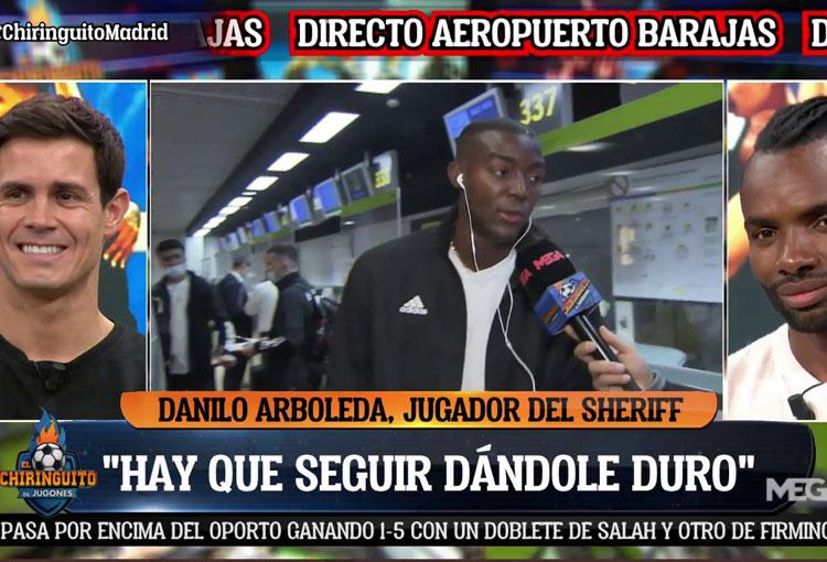 Danilo Arboleda en El Chiringuito: ¿Qué jugador de Real Madrid le dio su camiseta?