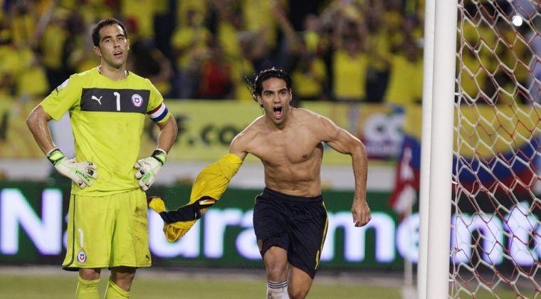 Los excelentes números de Falcao García enfrentando a Chile