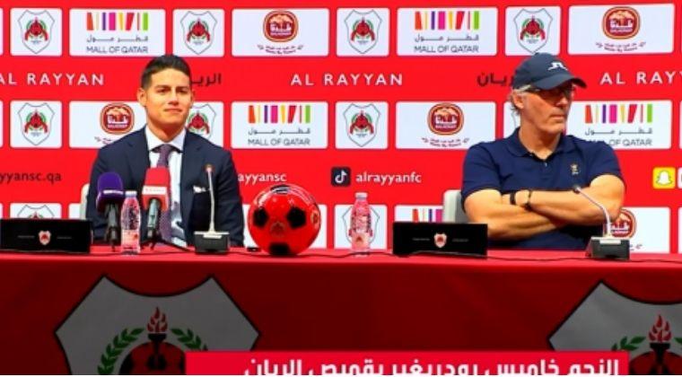 """DT de Al Rayyan y lo que dijo sobre la llegada de James: """"Él necesita jugar y nosotros a él"""""""