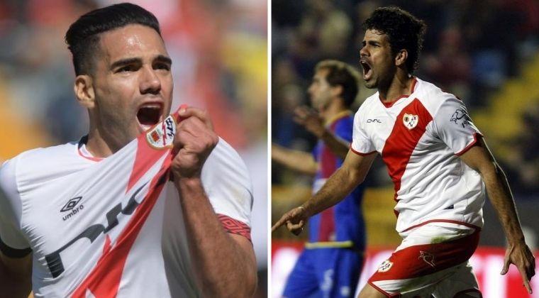 Nueva marca de Falcao García en Rayo Vallecano: igualó a Diego Costa