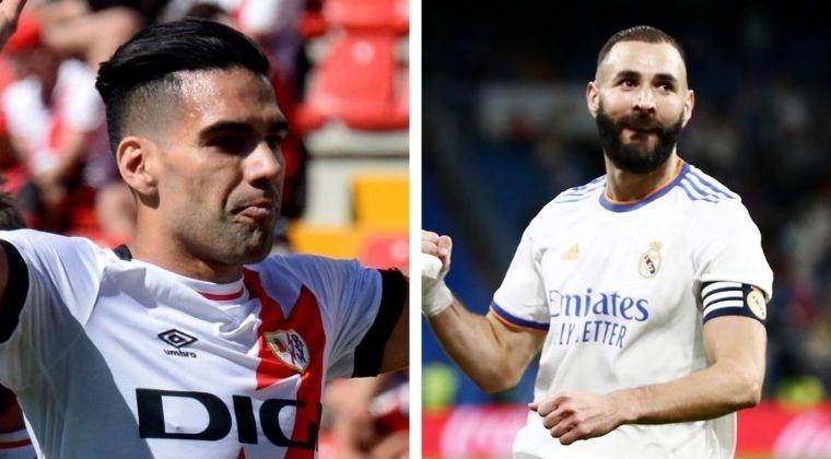 Falcao García y el registro en el que superó a Karim Benzema