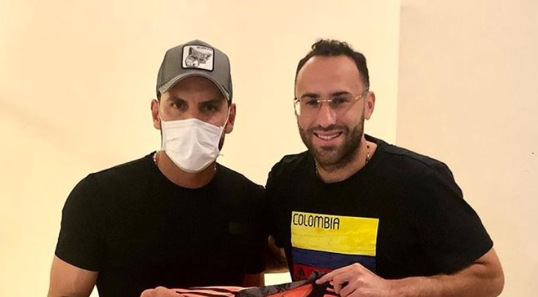 David Ospina le dejó un regalo a Sebastián Viera en Barranquilla: ¡Detallazo!