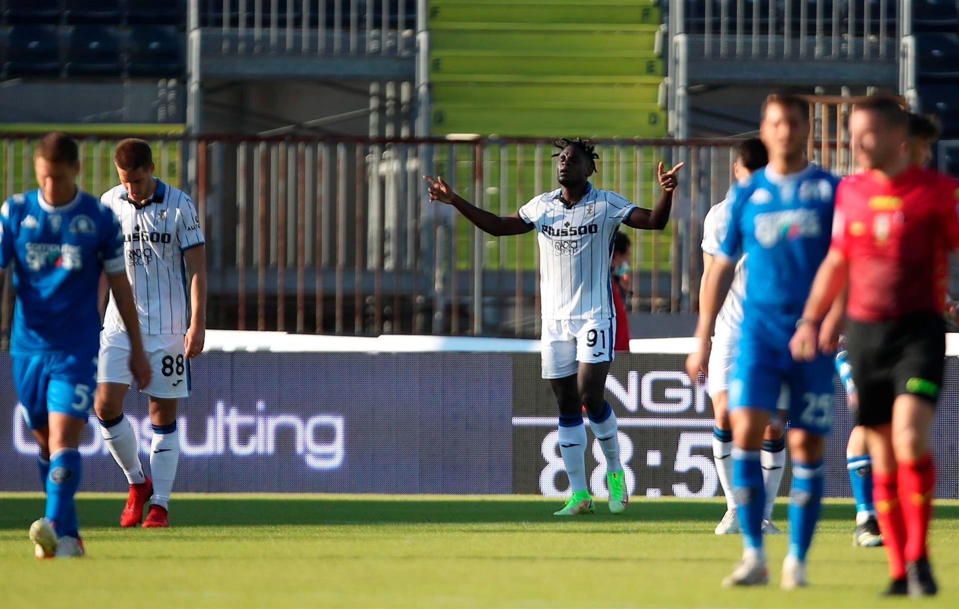 Duván Zapata alcanzó una cifra histórica de goles con Atalanta en Italia