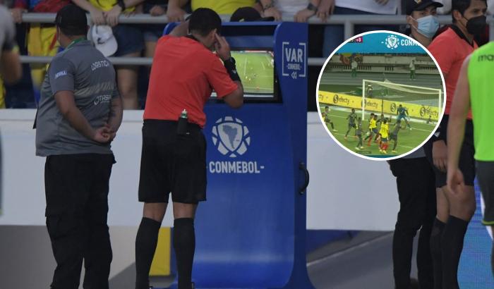 Selección Colombia: Conmebol reveló audio del VAR en la jugada de gol invalidada a Yerry Mina