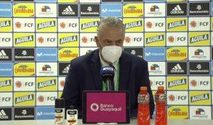 Gustavo Alfaro y lo que dijo tras el empate entre Colombia y Ecuador