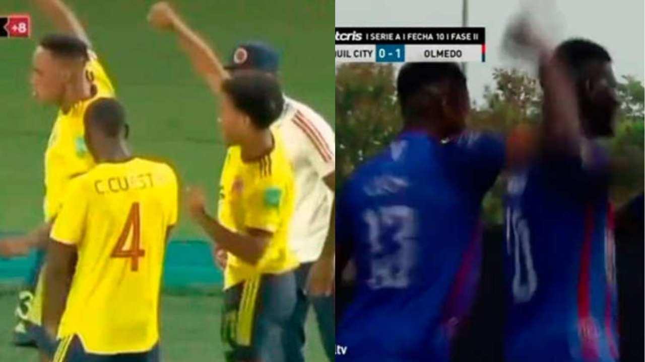 En la liga ecuatoriana imitaron el baile de Yerry Mina en el gol anulado