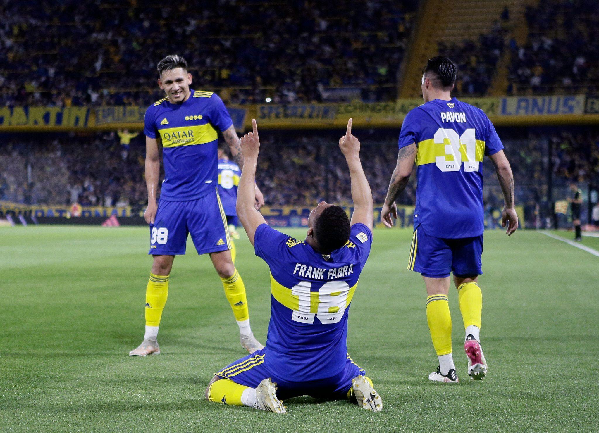 Frank Fabra: gol con Boca Juniors y celebración con dedicatoria especial al cielo