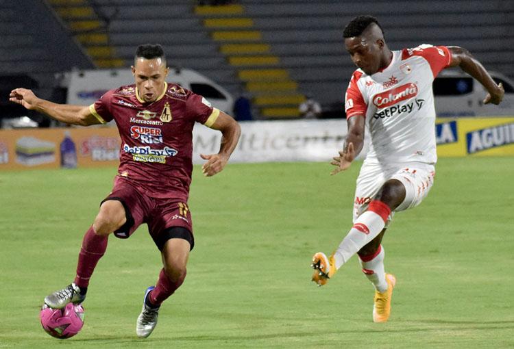 Independiente Santa Fe, Deportes Tolima, Liga BetPlay 2021-II, tabla de posiciones