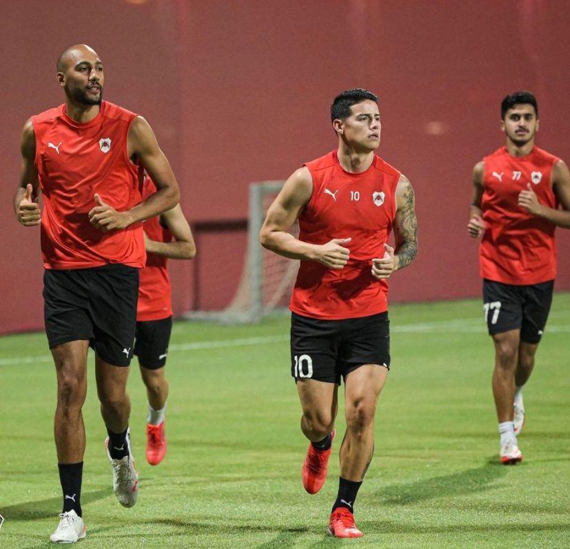 James ya entrena con normalidad en Al-Rayyan, ¿se acerca el debut en Catar?