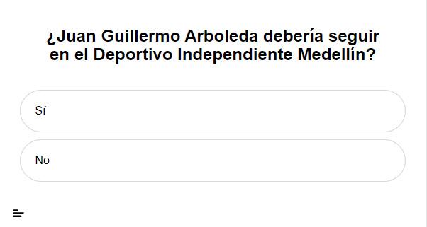 ¿Juan Guillermo Arboleda debería seguir en el Deportivo Independiente Medellín?