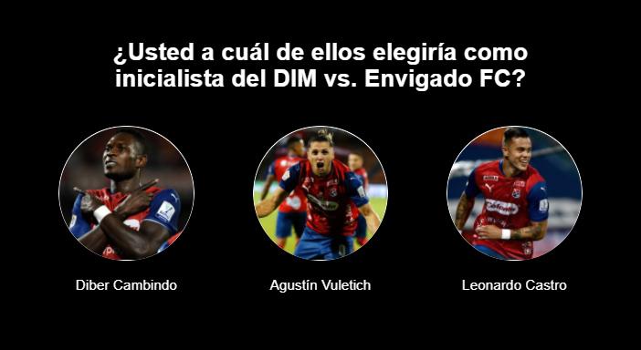 ¿Quién debería ser el delantero titular del DIM vs. Envigado FC?