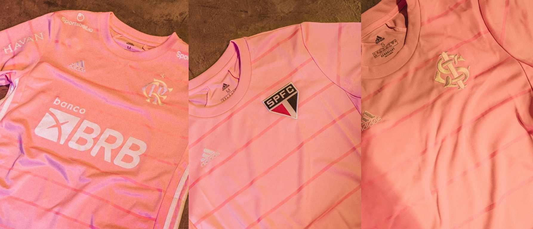 Flamengo, Inter y Sao Paulo estrenan camisetas por el octubre rosa