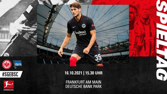 Ver en vivo Frankfurt vs Hertha Berlin por la fecha 8 de la Bundesliga de Alemania