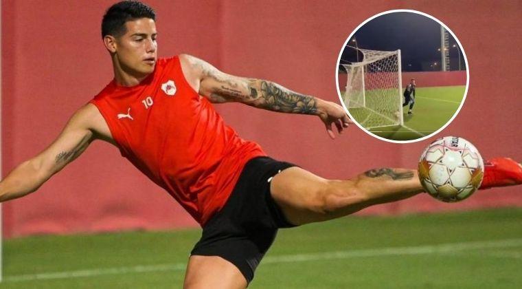 Se acerca el debut de James Rodríguez con A-Rayyan ¡Vea su golazo de tiro libre!