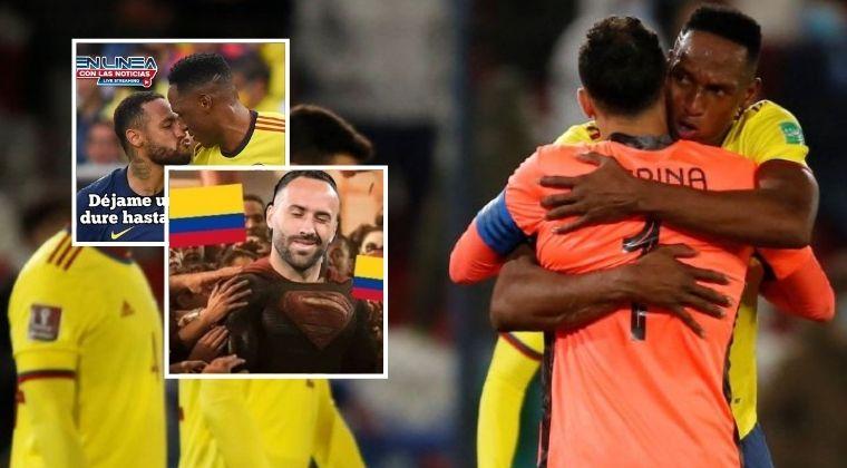 Los memes que dejó el empate entre Colombia y Brasil