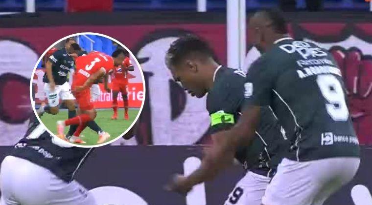 ¡Era el empate del Deportivo Cali y el VAR le dijo no a Teo Gutiérrez!