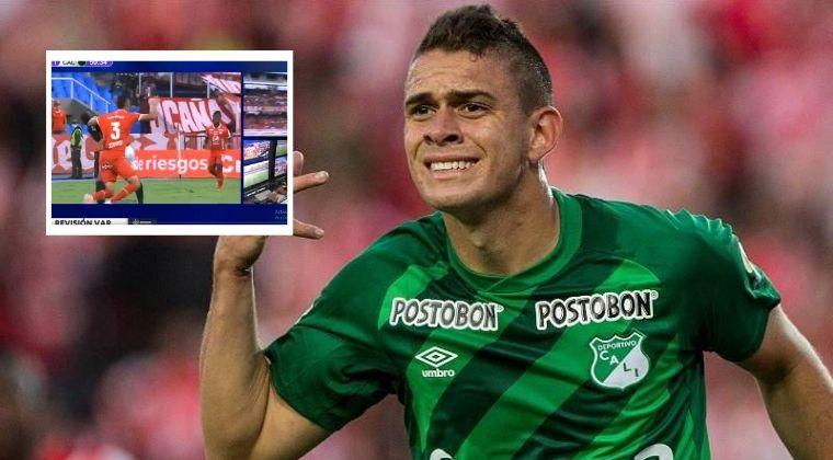 Santos Borré y el reclamo que hizo tras gol invalidado a Teo Gutiérrez
