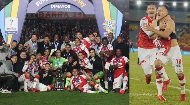 La cantera de Independiente Santa Fe se vio reflejada este miércoles cuando alzaron el titulo de la Superliga tras vencer con un marcador global de 5-3 al América de Cali.