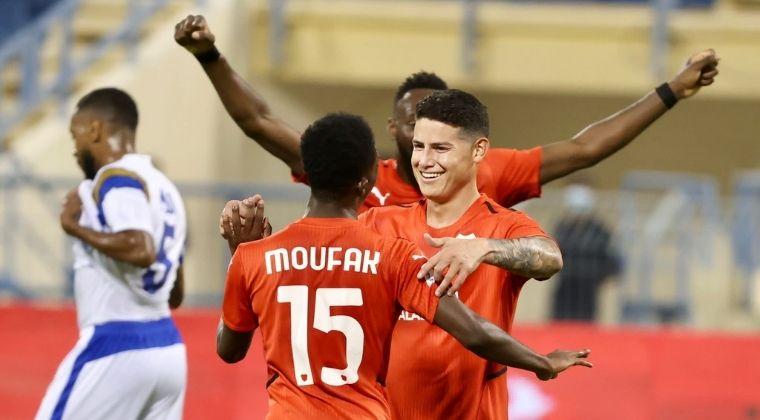 ¡Primer gol de James Rodríguez en Catar y Al Rayyan volvió al triunfo!