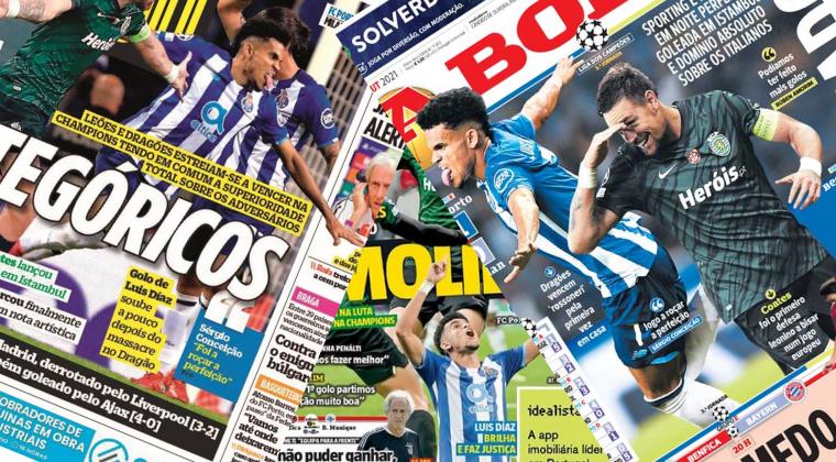 Luis Díaz es portada de los diarios deportivos más importantes de Portugal