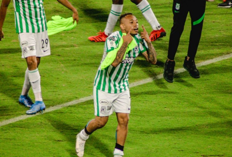 El festejo de Jarlan Barrera que emociona al hincha de Atlético Nacional