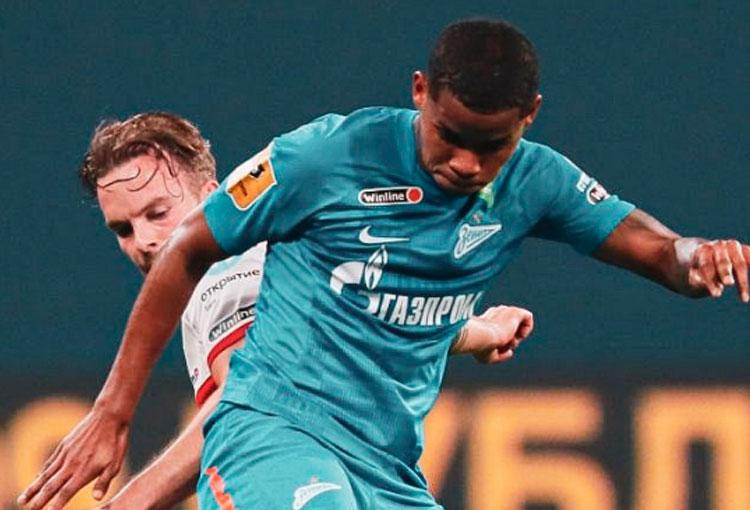Wilmar Barrios y su asistencia en el 7-1 de FC Zenit